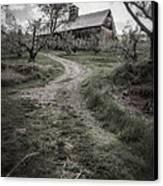 Spooky Apple Orchard Canvas Print by Edward Fielding