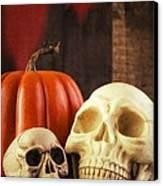 Spooky Halloween Skulls Canvas Print by Edward Fielding