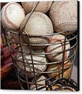 Sports - Baseballs And Softballs Canvas Print by Art Block Collections