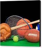 Sports Equipment Canvas Print by Joe Belanger