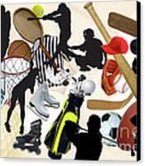 Sports Sports Sports Canvas Print by Susan  Lipschutz