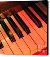 Spotlight On Piano Canvas Print