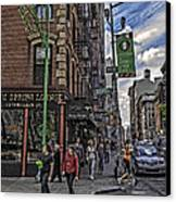 Spring And Mulberry - Street Scene - Nyc Canvas Print by Madeline Ellis