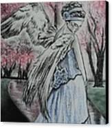 Spring Blossom Angel Canvas Print by Carla Carson