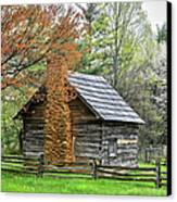 Spring Cabin I - Blue Ridge Parkway Canvas Print by Dan Carmichael