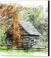 Spring Cabin II - Blue Ridge Parkway Canvas Print by Dan Carmichael