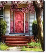 Spring - Door - Westfield Nj - Pink Canvas Print by Mike Savad