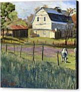 Spring Lake Smiling Barn Canvas Print by Jeff Brimley