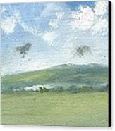 Spring Sky Bembridge Down Canvas Print by Alan Daysh