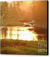 Spring Sunset Canvas Print by Alana Ranney