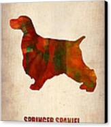 Springer Spaniel Poster Canvas Print by Naxart Studio