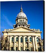 Springfield Illinois State Capitol Building Canvas Print by Paul Velgos