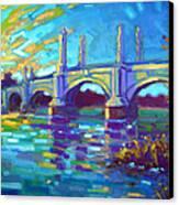 Springfield Memorial Bridge Canvas Print by Caleb Colon
