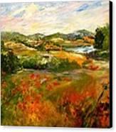 Springtime Impressions Canvas Print by Barbara Pirkle