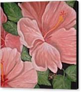 Square Foot Hibiscus Canvas Print