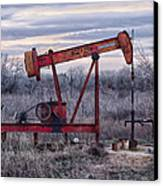 Squeaky Old Pump Jack Canvas Print by Kelly Kitchens