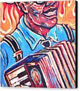 Squeezebox Blues Canvas Print by Robert Ponzio