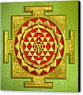 Sri Gold Yantra Canvas Print by Lila Shravani