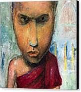 Sri Lankan Monk - 2012 Canvas Print by Nalidsa Sukprasert