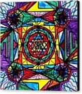 Sri Yantra Canvas Print by Teal Eye  Print Store