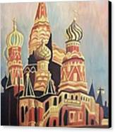 St Basil's Cathedral Moscow Canvas Print by Suzanne  Marie Leclair