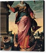St Catherine Of Alexandria, 1570 - 1611 Canvas Print