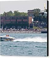 St. Clair Michigan Usa Power Boat Races-4 Canvas Print