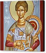 St Dimitrios The Myrrhstreamer Canvas Print