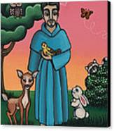 St. Francis Animal Saint Canvas Print by Victoria De Almeida