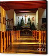 St Francis De Paula Mission Tularosa Canvas Print by Bob Christopher