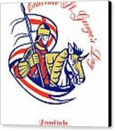 St. George Day Celebration Proud To Be English Retro Poster Canvas Print
