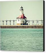 St. Joseph Lighthouse Vintage Picture  Canvas Print