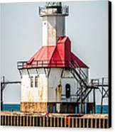 St. Joseph Michigan Lighthouse Picture  Canvas Print by Paul Velgos