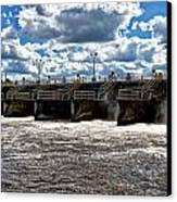 St Lucie Lock And Dam 2 Canvas Print by Dan Dennison