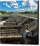 St Lucie Lock And Dam Canvas Print by Dan Dennison