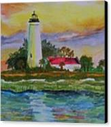 St. Marks Lighthouse-2 Canvas Print