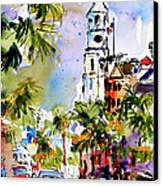 St Michael's Church Charleston South Carolina Canvas Print by Ginette Callaway