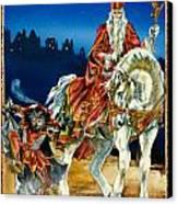 St Nicholas And Dark Peter Canvas Print by Lynette Yencho