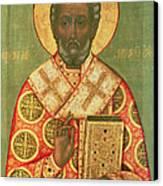 St. Nicholas Canvas Print by Russian School