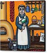 St. Pascual Making Bread Canvas Print by Victoria De Almeida
