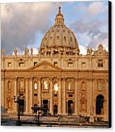 St. Peters Basilica Canvas Print by Adam Romanowicz