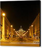 St. Peter's Basilica. Via Della Conziliazione. Rome Canvas Print by Bernard Jaubert
