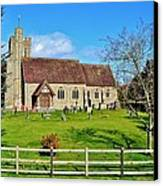St Peters Church In Minsterworth Canvas Print by Paula J James