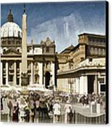 St Peters Square - Vatican Canvas Print by Jon Berghoff