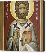 St Robert Canvas Print by Julia Bridget Hayes