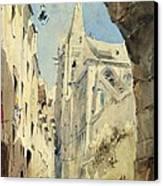 St. Severin Paris Canvas Print by James Holland