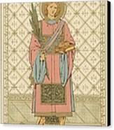 St Stephen Canvas Print by English School