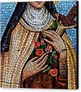 St. Theresa Mosaic Canvas Print
