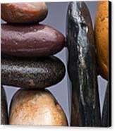 Stacked Stones 2 Canvas Print by Steve Gadomski