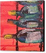 Stacks Of Red Canvas Print by Steve Jorde